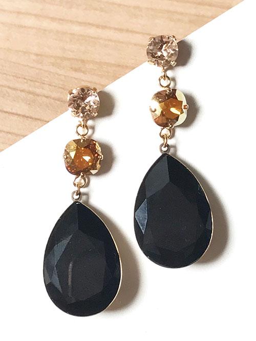 pendientes-trinidad-negro-dorado