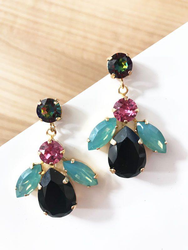 pendientes-aurea-negro-rosa-verde-agua-miss-fashionista