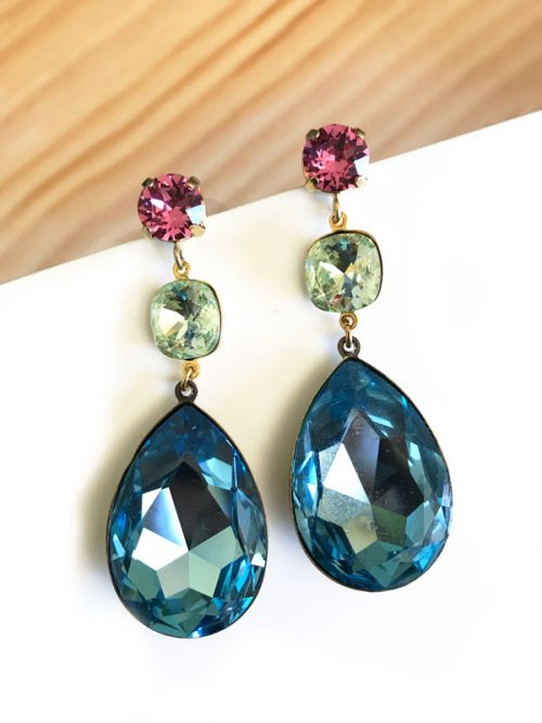 bbfeb51b735d Trinidad pendientes triples de lágrima cristal Swarovski - Miss ...