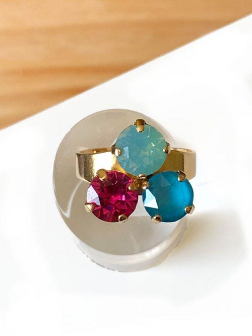 anillo-petra-turquesa-verde-agua-fucsia-miss-fashionista