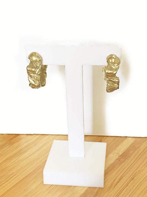 argollas meteorito miss fashionista doradas