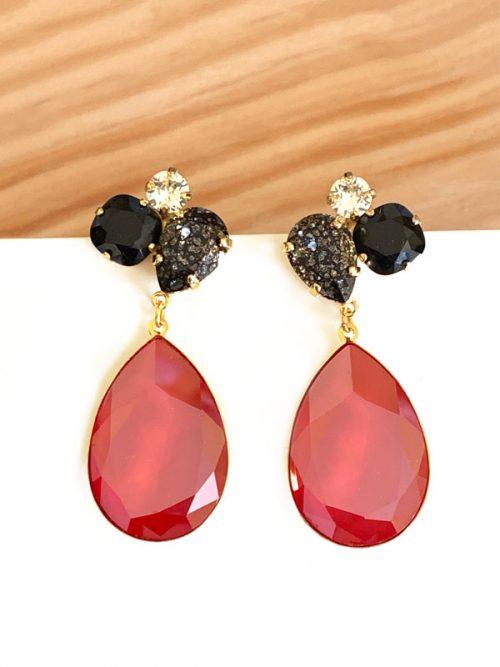 audrey-rojo-y-negro-moteado-miss-fashionista
