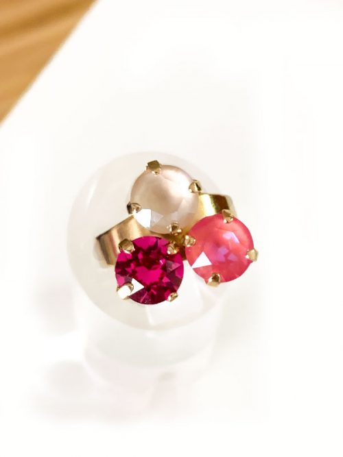 anillo petra rosa degrade miss fashionista